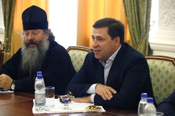 Евгений Куйвашев, встреча со святогорцами Фото: Департамент информационной политики губернатора СО