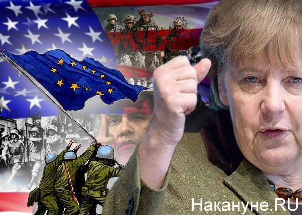 коллаж, ЕС, Евросоюз, Германия, Меркель, армия, НАТО, США, Обама|Фото: Накануне.RU