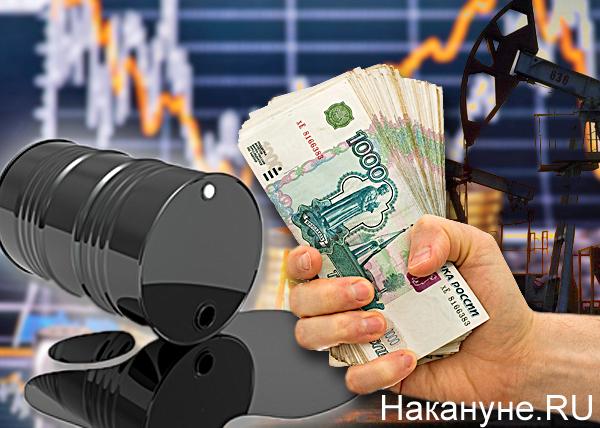 коллаж, нефть, рубль, деньги, девальвация, график, зависимость(2016)|Фото: Накануне.RU