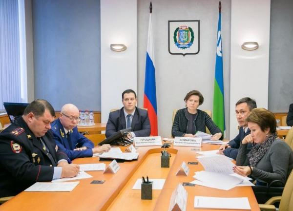 Наталья Комарова, заседание коллегии по безопасности|Фото:Департамент общественных и внешних связей Югры