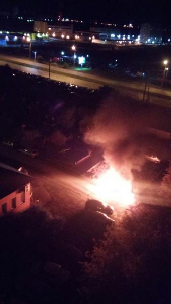 Курган, автомобиль, пожар, Мицубиши Аутлендер|Фото:vk.com