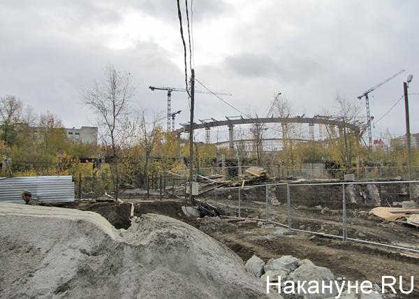 Екатеринбург, стройка, Центральный стадион Фото: Накануне.RU