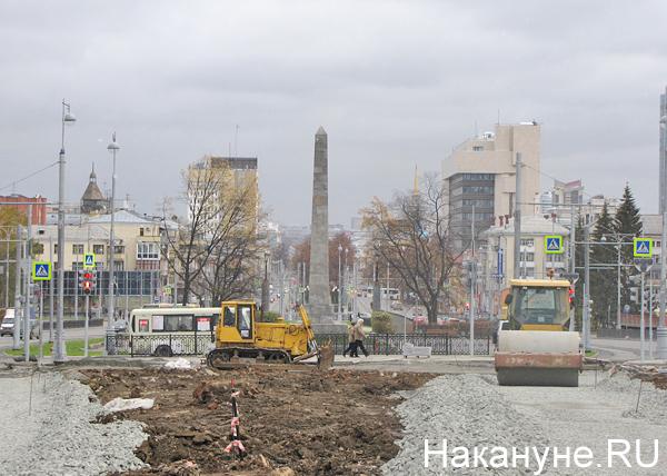 Екатеринбург, стройка, Вечный огонь Фото: Накануне.RU
