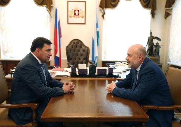 Евгений Куйвашев Павел Крашенинников|Фото: ДИП губернатора Свердловской области