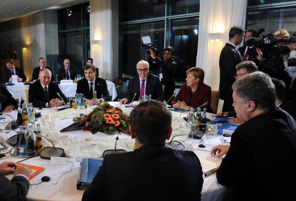 Путин, Сурков, Штайнмайер, Меркель|Фото: kremlin.ru