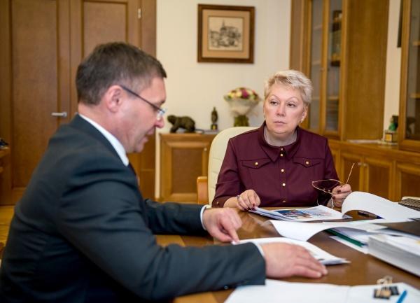 Владимир Якушев, Ольга Васильева|Фото:Пресс-служба Губернатора Тюменской области