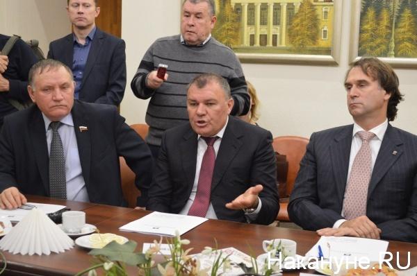 Василий Шишкоедов, Александр Ремезков, Сергей Лисовский (слева направо)|Фото:Накануне.RU