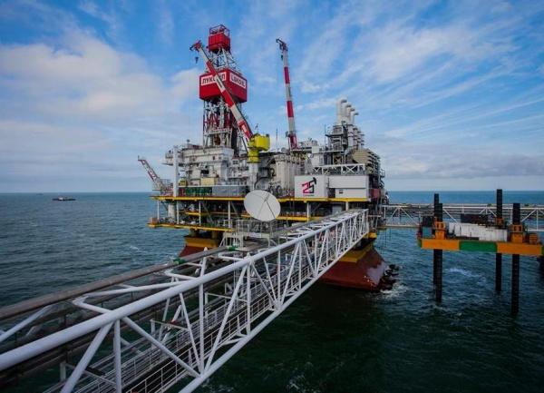 месторождение Филановского, нефть, платформа, добыча нефти, Лукойл, Каспийское море|Фото: ПАО Лукойл
