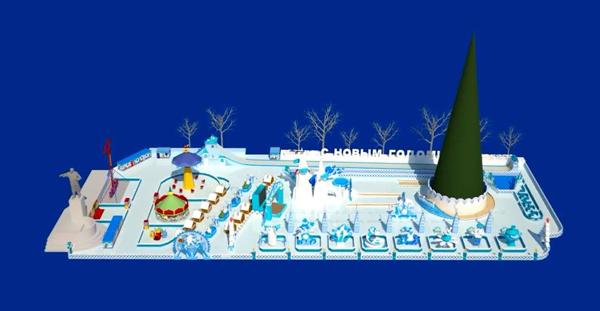 ледовый городок, Екатеринубрг|Фото: мэрия Екатеринбурга