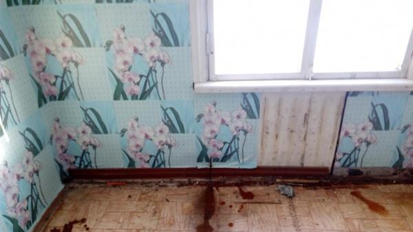 Аварийное жилье, Тобольск, семья, Юрий Юхневич Фото: kprf72.ru
