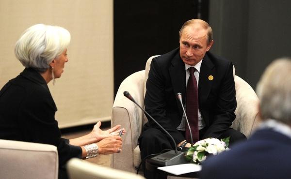 Кристин Лагард, Владимир Путин|Фото: kremlin.ru