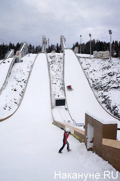 Нижний Тагил, гора Долгая, трамплины, прыжки на лыжах с трамплина Фото: Накануне.RU