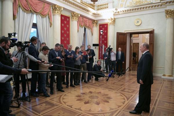 Владимир Путин журналисты Фото: пресс-служба президента РФ