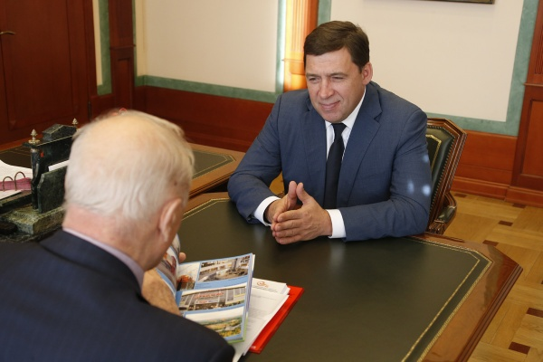 Евгений Куйвашев, встреча с Росселем|Фото: Департамент информационной политики губернатора СО