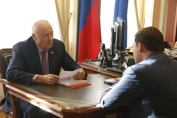 Эдуард Россель, встреча с Куйвашевым|Фото: Департамент информационной политики губернатора СО