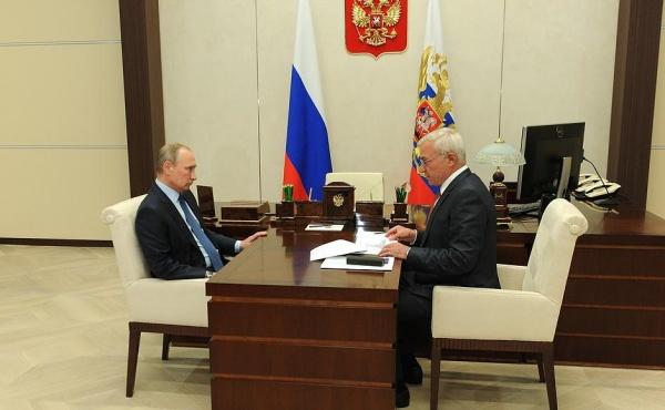 Владимир Путин, Виктор Рашников, ММК, Фото: пресс-служба кремля