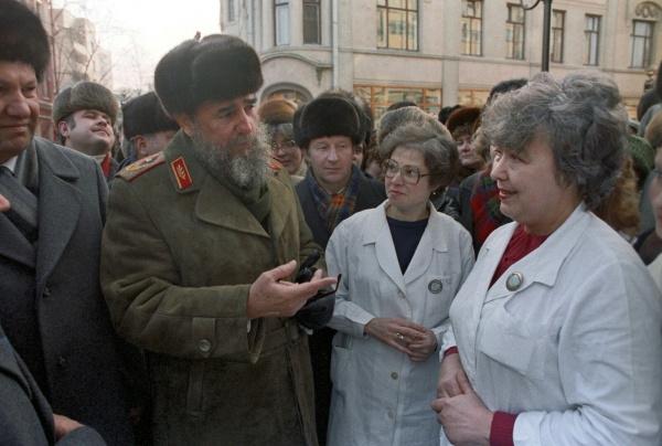 Фидель Кастро и 1-й секретарь МГК КПСС Борис Ельцин Фото: