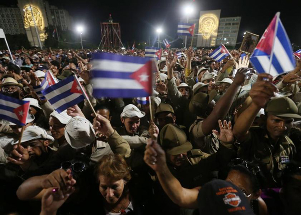Фидель Кастро, акция памяти, прощание, Куба, Гавана|Фото: REUTERS