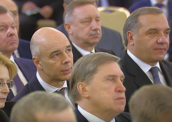 Владимир Путин, послание Федеральному собранию РФ, Силуанов Фото: RT