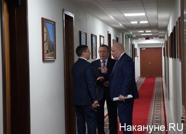 Владимир Якушев, Сергей Новицкий, Александр Моисеев, попечительский совет Корпорации развития Фото: