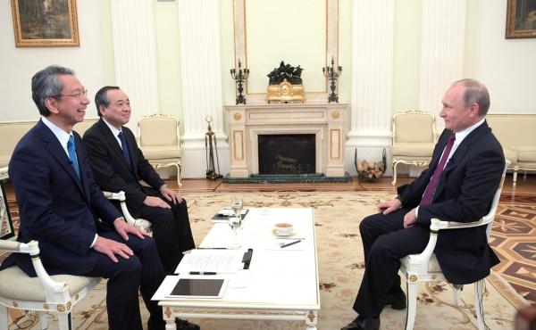 Владимир Путин японские журналисты Фото: пресс-служба президента РФ