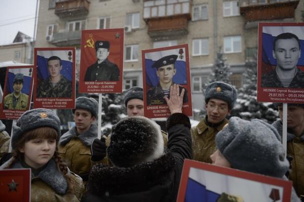акция бессмертный батальон, тюмень, погибшие, юнармейцы|Фото:пресс-служба Транснефть-Сибирь