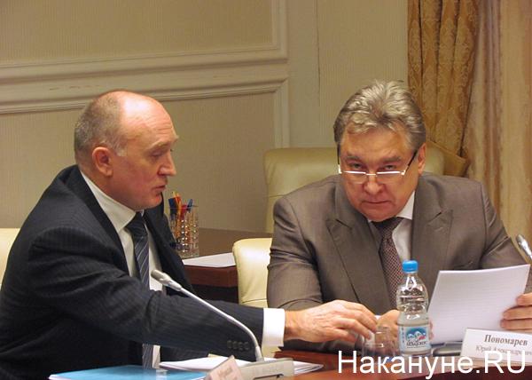 Борис Дубровский, Юрий Пономарев, совещание в полпредстве|Фото: Накануне.RU