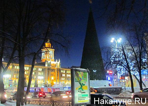 новый год, площадь 1905 года, елка, администрация|Фото: Накануне.RU