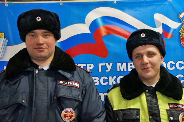 старший сержант Александр Орлов и лейтенант Сергей Петухов|Фото: ГИБДД Свердловской области