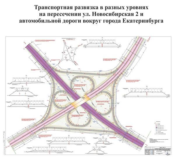 Екатеринбург, ЕКАД, 2-я Новосибирская, развязка, строительство Фото: midural.ru