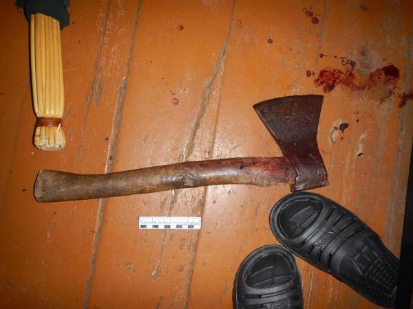 топор, кровь, место преступления|Фото: СУ СКР по СО