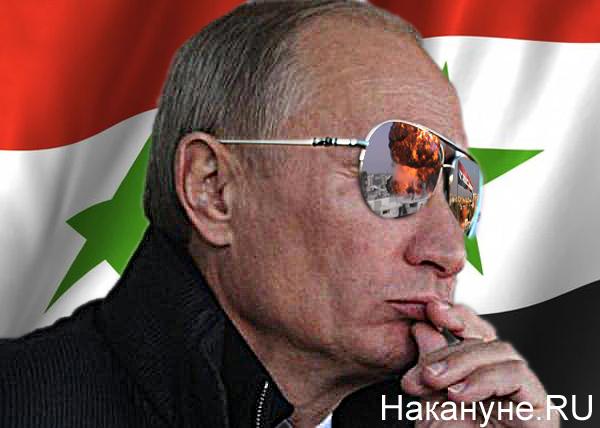 коллаж, Путин, очки, Сирия|Фото: Накануне.RU