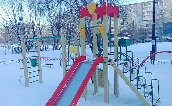 детская площадка, детский игровой комплекс, демонтаж, Фото: администрация Калининского района
