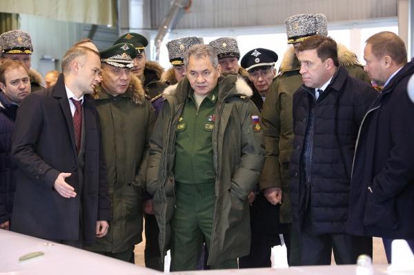 Сергей Шойгу, Евгений Куйвашев|Фото: Департамент информационной политики губернатора СО