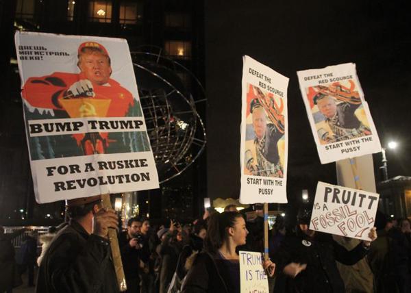 Доналдь Трамп, США, инаугурация, митинги, протесты, протесты против Трампа Фото: Bruce Cotler/ Global Look Press