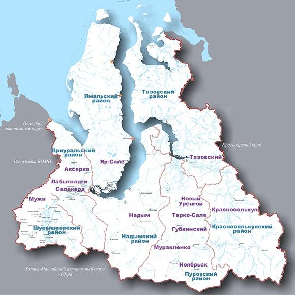 Карта ЯНАО, карта Ямала, карта, ЯНАО, Ямал|Фото: invest.yanao.ru