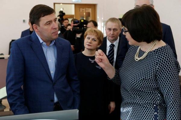 Евгений Куйвашев, библиотека Белинского Фото: Департамент информационной политики губернатора СО