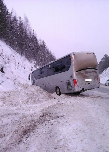 автобус ДТП трасса Фото: ГИБДД Свердловской области