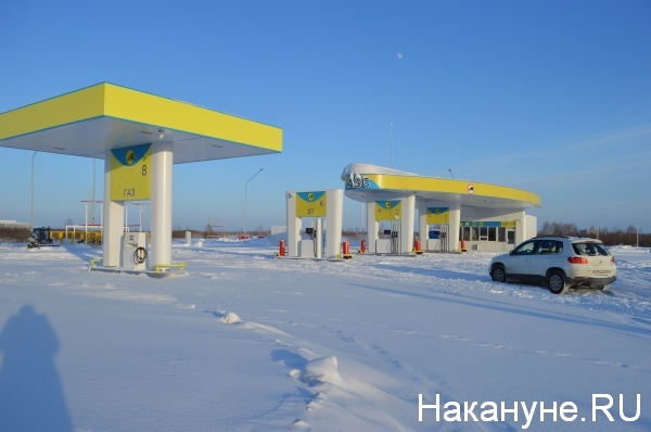 АЗС, Антипинский НПЗ, Новый поток, Курган|Фото:Накануне.RU