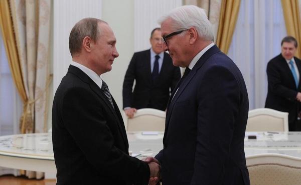 президент Германии Франк-Вальтер Штайнмайер, Владимир Путин|Фото: пресс-служба Кремля