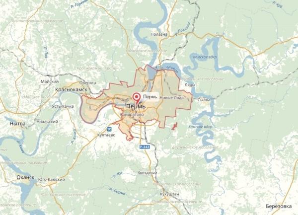 Пермь, карта|Фото: