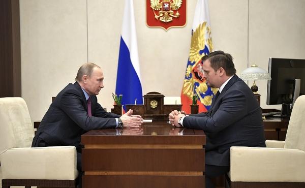 Владимир Путин Андрей Никитин|Фото: пресс-служба президента РФ