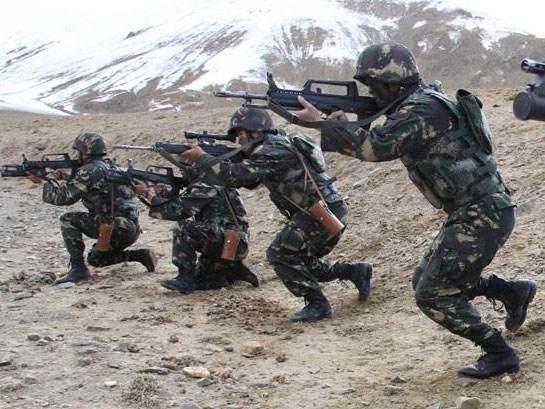 Китайские силовики на учениях|Фото: news.ycwb.com