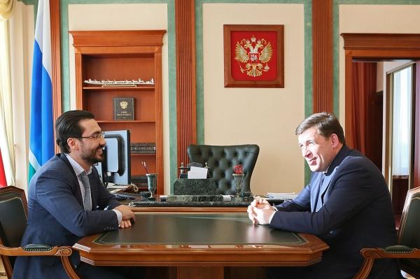Евгений Куйвашев, Максим Овчинников|Фото: Департамент информационной политики губернатора СО