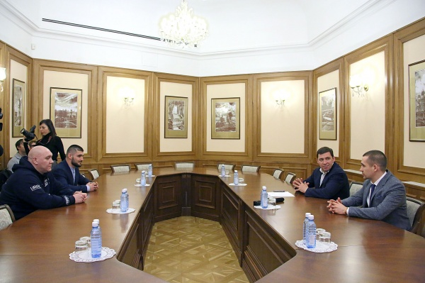 Евгений Куйвашев, Магомед Курбанов|Фото: Департамент информационной политики губернатора СО
