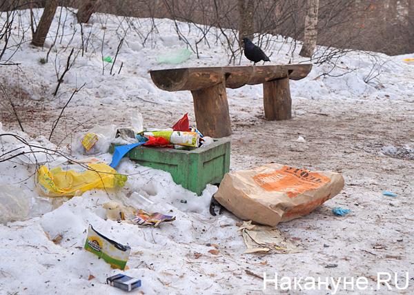 Шарташский лесопарк, Каменные палатки, мусор|Фото: Накануне.RU