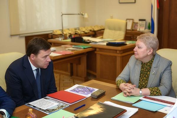 Ольга Васильева Евгений Куйвашев|Фото: ДИП губернатора Свердловской области