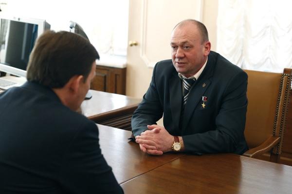 Евгений Куйвашев, Сергей Евланов Фото: Департамент информационной политики губернатора СО