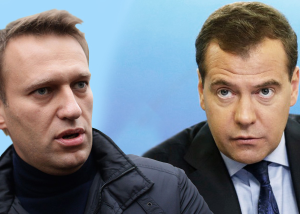 коллаж, Навальный, Медведев|Фото: Накануне.RU