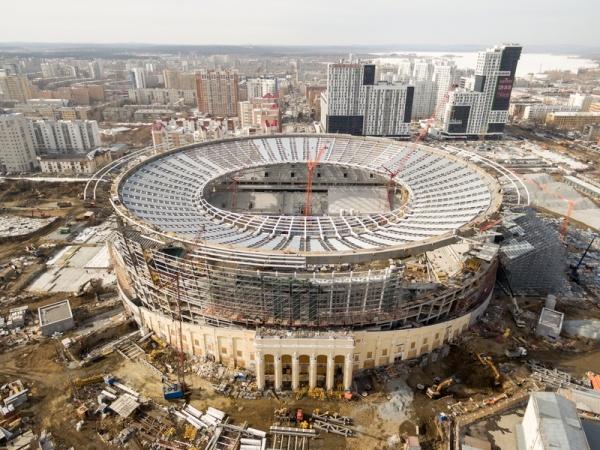 Екатеринбург-Арена стройка стадион|Фото: Группа Синара